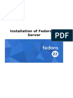 Installation of Fedora 22 Server