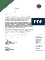 Letter Invitations FGNMHS
