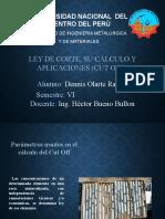 Ley de cutoff Ley de corte