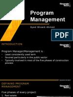 Syed Shoaib Ahmed Program Management