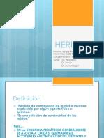 HERIDAS Interno de pediatría