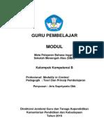 Modul Guru Pembelajar  KK B 1 B ING SMA Revisi Maharadja Text