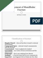 Management of Mandibular Fracture by Dr. Bethan Jones