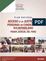 Plan Nacional de Acceso a La Justicia de Personas en Condición de Vulnerabilidad
