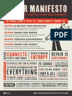 Ifixit Self-repair Manifesto 11x17
