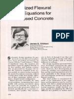 Generalized Flexural Design Equations for Prestressed Concrete