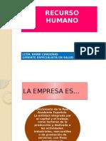 Recurso Humano Clase 6