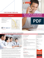 Brochure_Doctor of Philosophy (Project Management) (Hons)