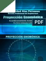 PROYECCIÓN GNOMÓNICA