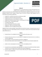 Work Zone Traffic Management Guide Version Rev 1.2 Release Note - November 2015
