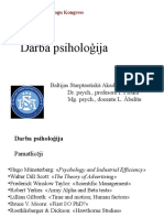Darba Psiholoģija