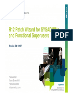Is r12 Patch Wizard Sysadmins Superusers Oaug