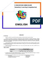 English Curriculum, Philippine DepEd