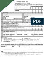 Form 60 Pancard