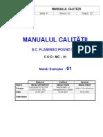 A1-0 Manualul Calitatii
