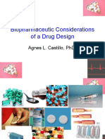 5 Biopharmaceutic Considerations of a Drug Design