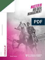 Brochure Master in Big Data Management LUISSROME