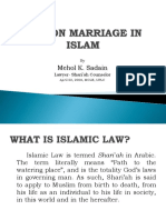 Law on Marriage in Islam