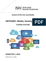 ARTS1091 Course Outline 2016