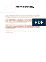 Procurement Strategy Sample Template March 2013