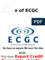 Role of ECGC
