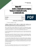 FICHA DE ACTIVIDADES BLOQUE COMUNICACIÓN