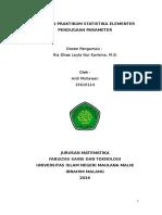 Laporan Pendugaan Parameter (Praktikum Statistiak Elementer)