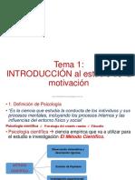 Tema 1 Resumen Psicología de la motivacion
