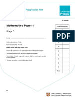 Math Stage 3 Paper 1