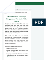 Alfian CS_Mudah Membuat Form Login Menggunakan VBA Excel