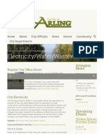 City of Arlington - Electric Rates