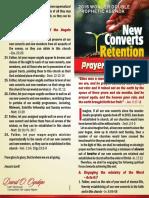 New Converts Retention Prayer Guidelines
