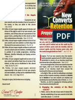 New Converts Retention Prayer Guidelines