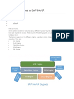 Different Engines in SAP HANA