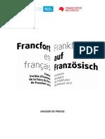 Francfort en français - Foire 2017