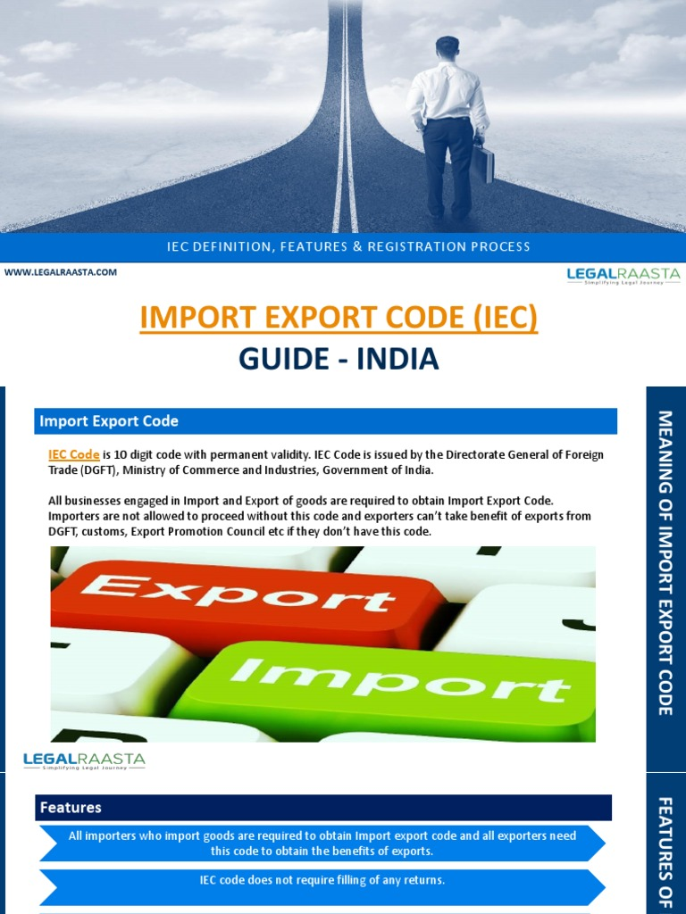 Import Export Code Guide | Exports | Government