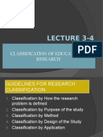 3. Classification of Educational Research
