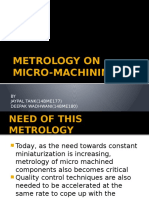 Metrology in Micromachining