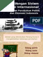 Perkembangan Sistem Ekonomi Internasional