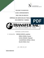 Trabajo de Emprendimiento Transfer Sac