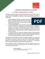 Manifiesto en Defensa del Frontón Beti-Jai de Madrid ante el Plan Especial del Ayuntamiento