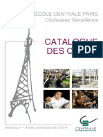 Catalogue de cours de l'ECP