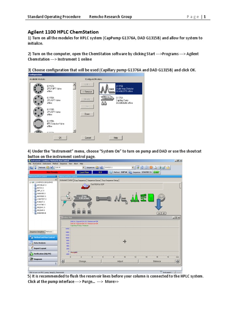 Agilent chemstation manual hplc