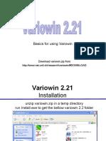 Lab5- Variowin Basics