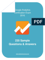Google Analytics Certification Questions Answers