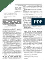 Decreto Supremo que establece disposiciones complementarias para procesos eleccionarios de Organizaciones de Usuarios de Agua 2017-2020