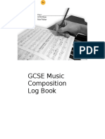 GCSE Music Composition Log Book