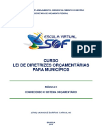 Lei de Diretrizes Orçamentárias Para Municípios - Módulo I- Conhecendo o Sistema Orçamentário