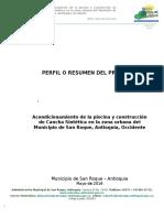 Perfil MGA Proyecto San Roque 2016