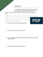 Peace Corps SA OSS Training  LES Summary Sheet